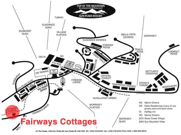 Fairways Cottages Location Map