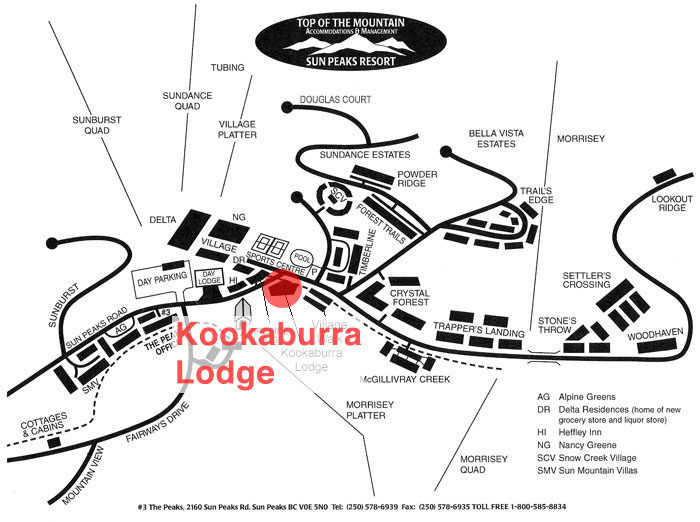 Kookaburra Lodge Map