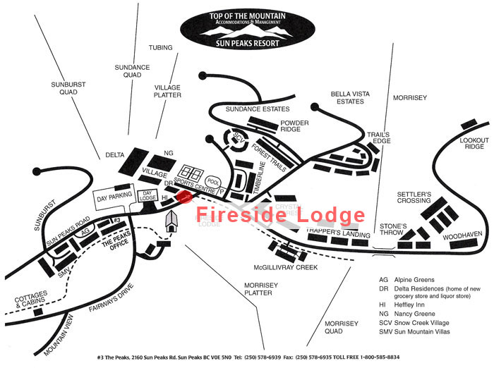 Fireside Lodge Map
