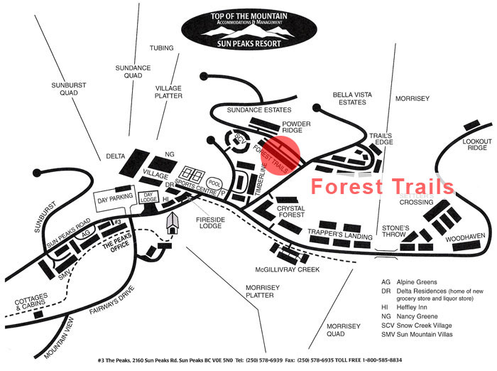 Forest Trails Map
