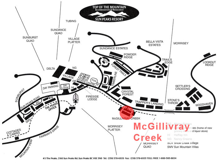 McGillivray Creek Map