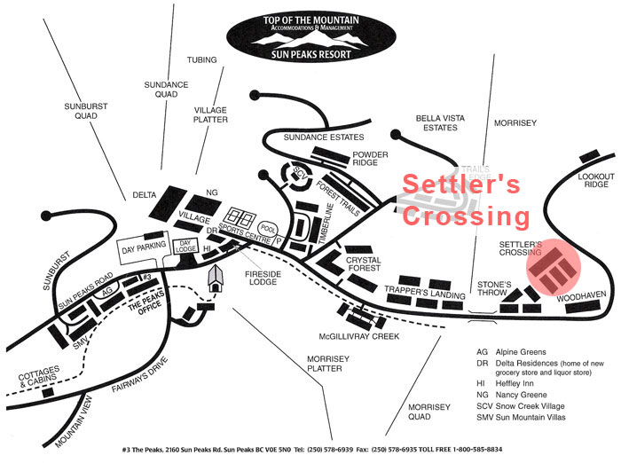 Settler's Crossing Map